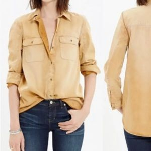 Madewell Button Down Top Mustard Yellow Small